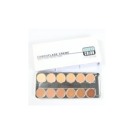 Kryolan Dermacolor Camouflage Creme Palette with 12 shades (-D1W - D12W)
