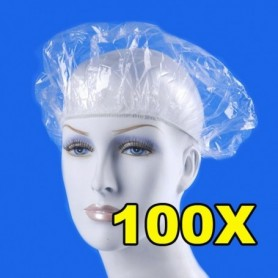 Beaute4u Hotel Amenities Disposable Plastic Shower Caps Home stay One-Off Elastic Bathing Caps