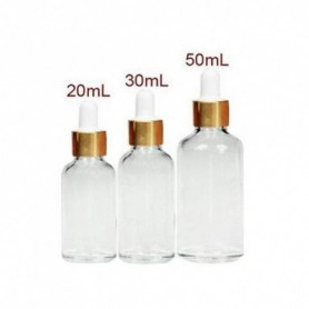 20pcs-Lot 50ml Clear Glass Essential Oil Vials Perfume Dropper Bottles Containers Jar Pot With Glass Pipette