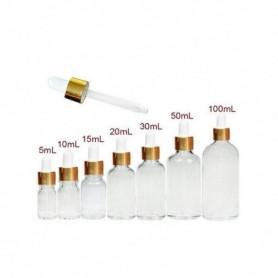 20pcs/Lot 5ml 10ml 15ml 20ml 30ml 50ml & 100ml Clear Glass Essential Oil Vials Perfume Dropper Bottles With Glass Pipette