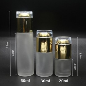 20pcs/of 20ml 30ml 60ml & 80ml Frosted Glass with Pump Bottles.