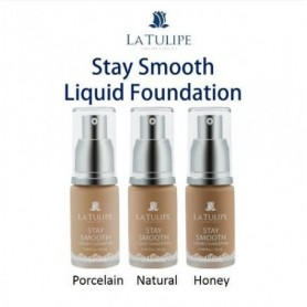 La Tulipe Stay Smooth Liquid Foundation -03 Honey - Fulfilled By Beaute4u