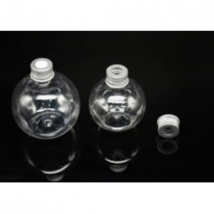 Beaute4u 20pcs-Lot of 200ml Round perfume Plastic Cosmetic Bottles with Aluminium Cap - Fulfilled by Beaute4u