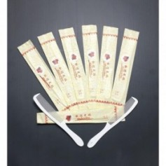Beaute4u 100pcs-Lot Hotel Supplies Home Stay Disposable Comb With Individual packaging Hotel Amenities Hair Comb
