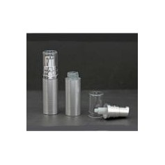 Beaute4u 20pcs-Lot Empty 5ml Airless Pump Bottles Silver With Clear Cap - Fulfilled By Beaute4u