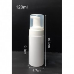 20pcs-Lot 120ml Refillable Hand Soap Foaming Mousse Bottle Dispenser Holder Pump White Bottle