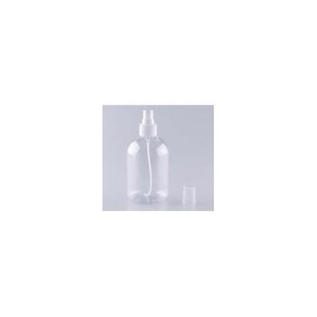 Beaute4u 10pcs-Lot 300ml Clear PET Bottle with White Spray - Fulfilled By Beaute4u