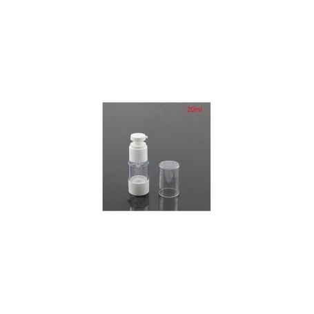 20pcs-Lot 20ml Airless Pump Bottle With White Pump & bottom White Lid
