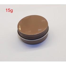 15g Brown Aluminium Jar Lip Gloss Empty Cosmetic Metal Tin Containers.