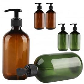 12pcs/lot 300ml 500ml Brown Green PET Plastic Bottles.