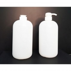 1000ml Empty HDPE Natural Bottle with Screw On Cap/Pump Dispenser For Cleansing, Sanitizers