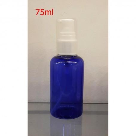 12pcs/lot of 75ml Empty PET Violet  Bottle with Pump Dispenser For Cleansing, Sanitizers