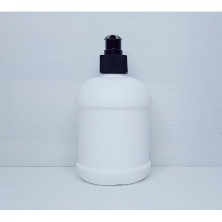 500ml Empty HDPE White Bottle with Pump Dispenser For Cleansing, Sanitizers