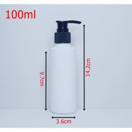 100ml 125ml Empty HDPE White Bottle with Pump Dispenser For Cleansing, Sanitizers