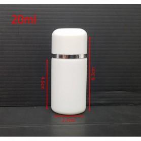 20Pcs/lot 20ml white Bottle s/w cap White Empty Cosmetic Containers, Cleansing