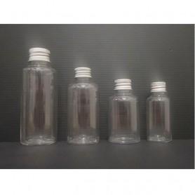 12Pcs/lot 35ml,50ml,75ml&100ml Clear PET Plastic Bottle Aluminium Cap Empty Cosmetic Containers, Cleansing