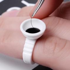10pcs/ Disposable plastic lash rings holder eyelash extention glue ring