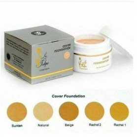 La Tulipe Cover Foundation 12.5 g -- Latulipe Alas Bedak Wajah (Natural Color) - Fulfilled By Beaute4u