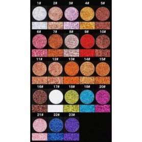 Beaute4u New Professional Glitter Eyes Single Eyeshadow Pressed Powder - Fulfilled By Beaute4u