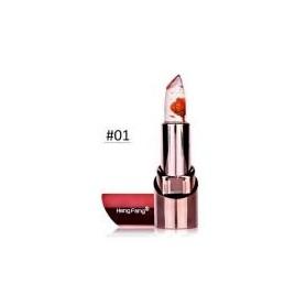 HengFang Gold Flower Lipstick Temperature changed Color Lip Balm Moisturizer Waterproof Lipstick -01 lipstick