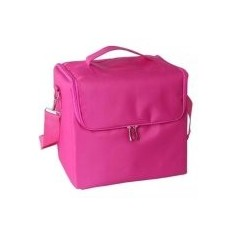 Makeup Professional Storage Beauty Box Travel Cosmetic Organizer Carry Case Pink Color
