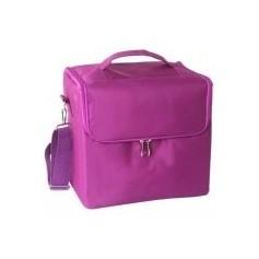 Beaute4u Portable Fashion Travel Double Layer Makeup Box Beauty Case Make Up Bag Kits Storage Bag