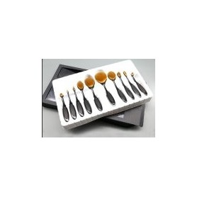 10 pcs Oval Puff Soft Makeup Brushes Set Toothbrush Foundation Cosmetic Cream Powder Blush Kits