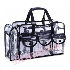 Large Professional Carry All Transparent Makeup Set Bag Beauty Storage Case.