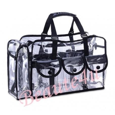 Beaute4u Large Professional Carry All Transparent Makeup Set Bag Beauty Storage Case.