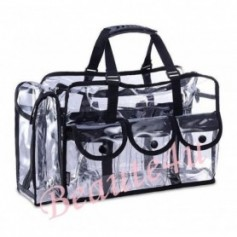 Beaute4u Large Professional Carry All Transparent Makeup Set Bag Beauty Storage Case.