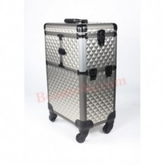 Professional Trolley Cosmetic Make Up Case -02 (Grey Color)