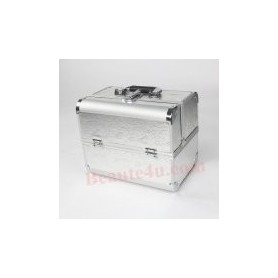 Cosmetic Organizer Box Make Up Case for Make Up Tools Storage Box -2321 (Silver Color)