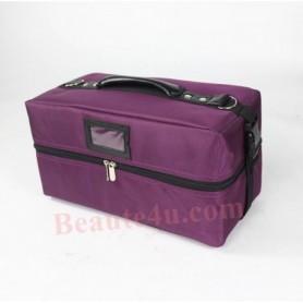 Beaute4u Professional Cosmetic Makeup Storage Beauty Box Organizer (Purple Color) - Fulfilled By Beaute4u